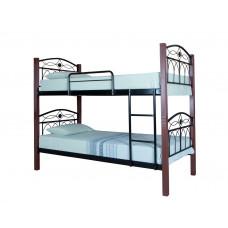 Двухъярусная кровать Элизабет Вуд  ТМ Metal Line