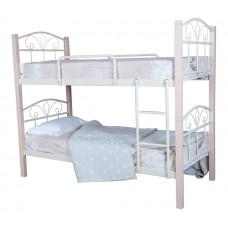 Двухъярусная кровать  Лара Люкс Вуд  ТМ Metal Line