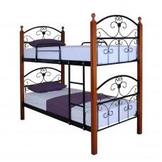 Двухъярусная кровать Патриция Вуд  ТМ Metal Line